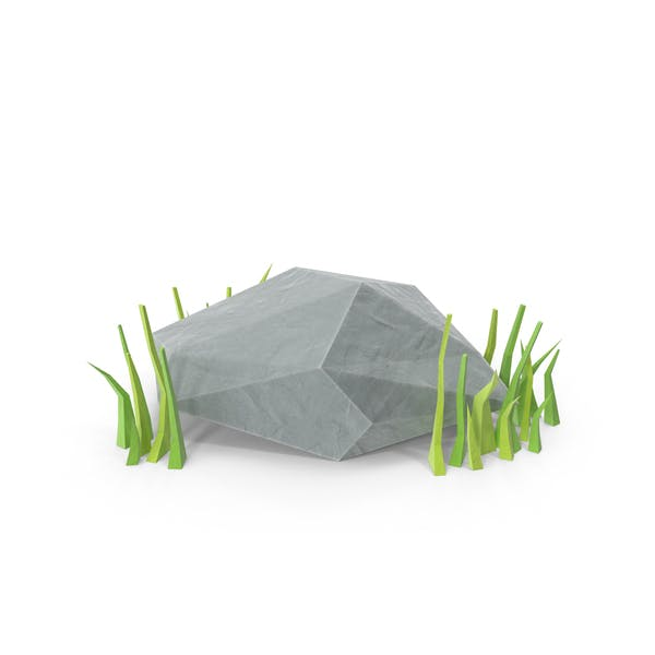 Thumbnail for Low Poly Rock mit Gras