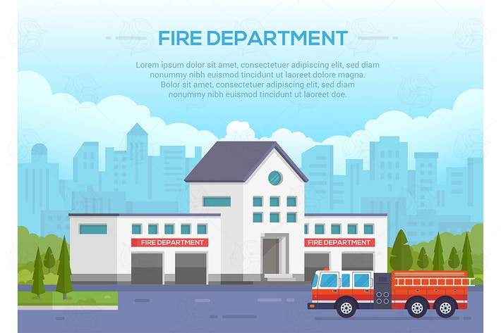 Thumbnail for Fire department - vector illustration