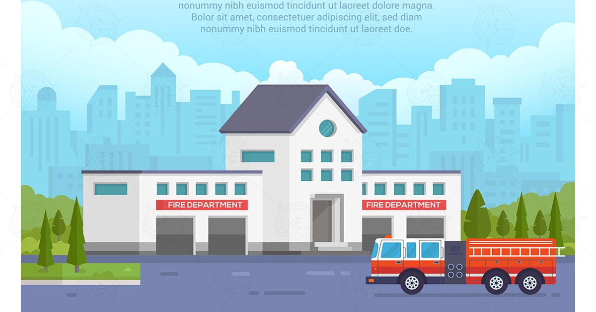 Fire department - vector illustration by BoykoPictures
