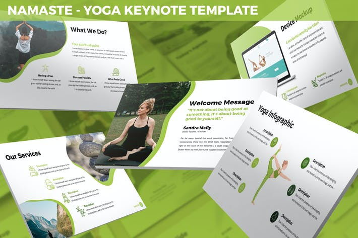 Thumbnail for Namaste - Yoga Keynote Template