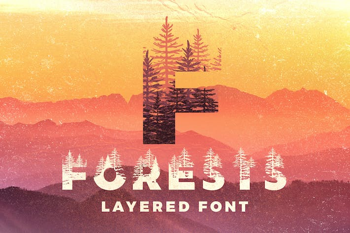 Thumbnail for Forests Layered Font