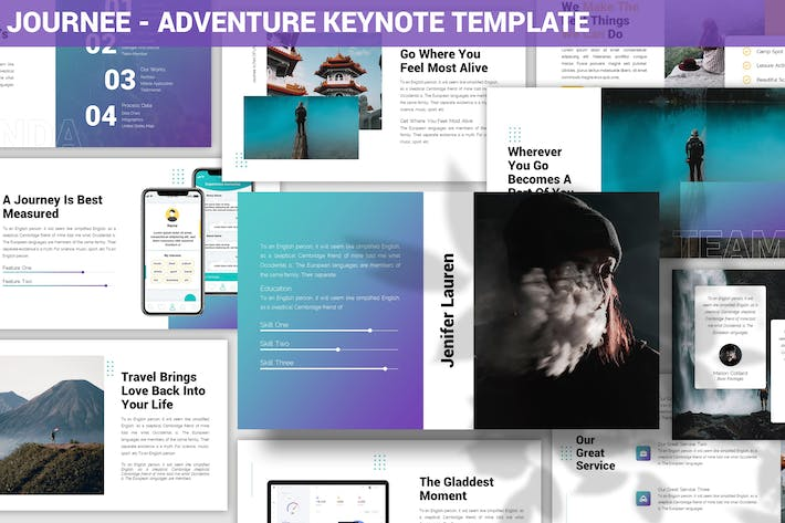 Thumbnail for Journee - Adventure Keynote Template