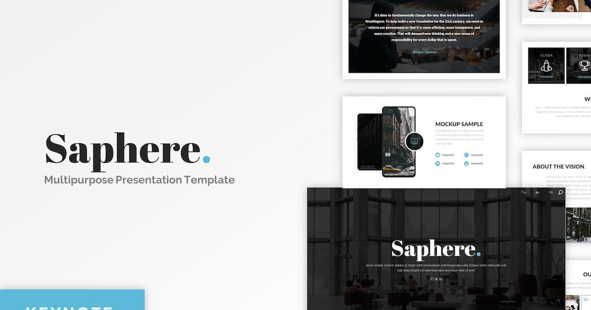 Download Saphere - Minimalist Keynote Template by CocoTemplates