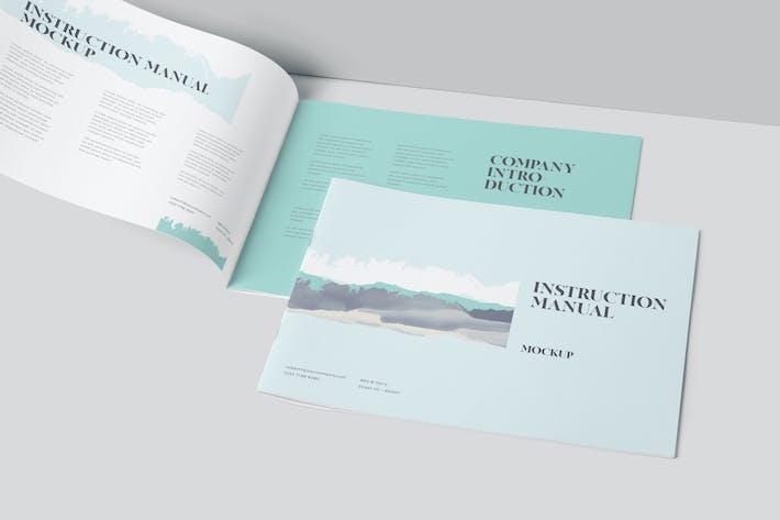 Thumbnail for Landscape Instruction Manual & Brochure Mockups