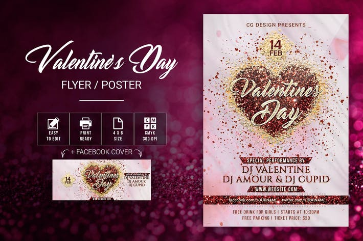 Thumbnail for Valentine's Day Flyer