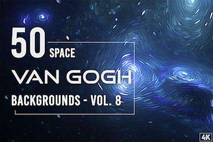 50 Van Gogh Weltraum-Hintergründe - Band 8