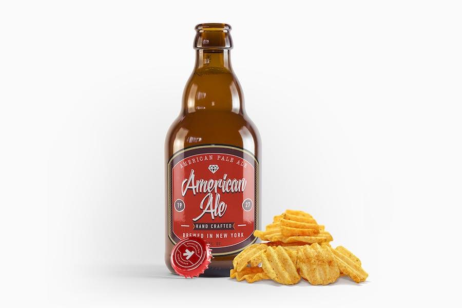 Steinie Bier Amber Flasche Mockup
