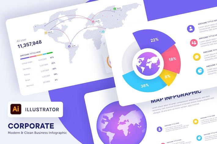 myAsset - World Map Infographic