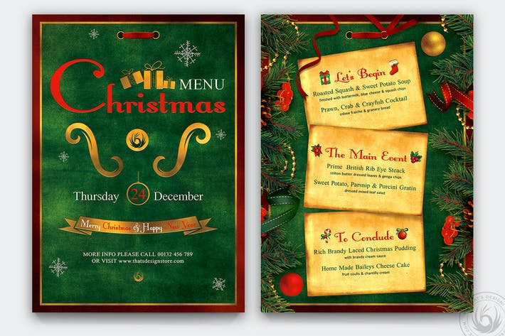 Christmas Menu Template V2