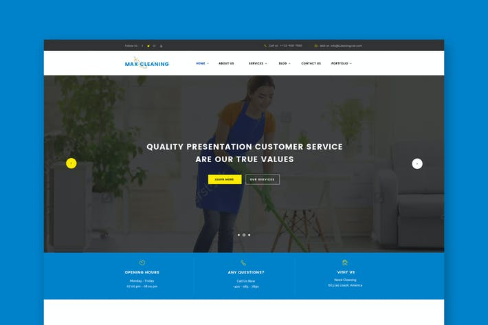 Thumbnail for Max Clean - Cleaning Business HTML Template