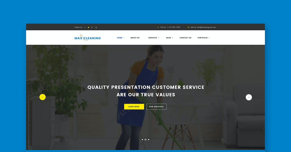 Download Max Clean - Cleaning Business HTML Template by ThemeWisdom