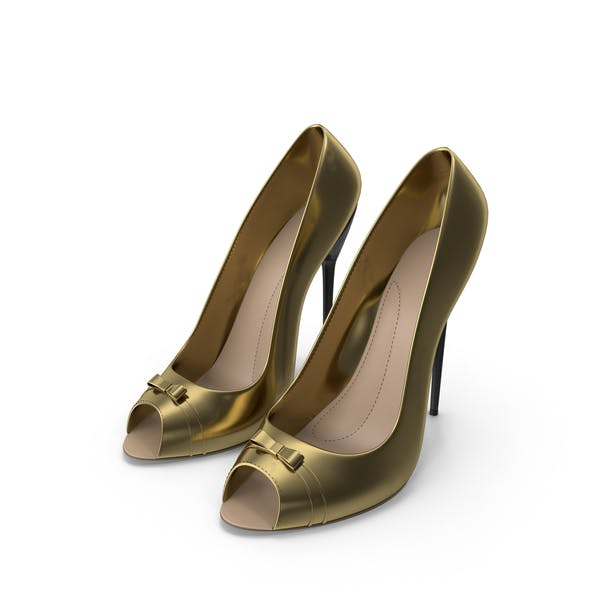 High Heels Women's Shoes Gold