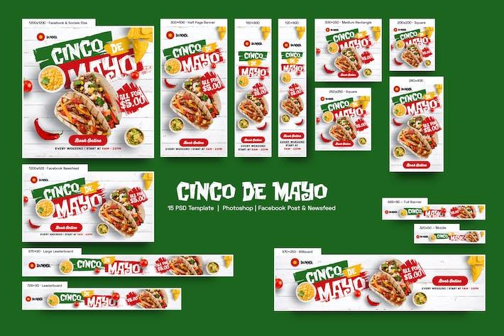 Thumbnail for Cinco de Mayo Banners Ad