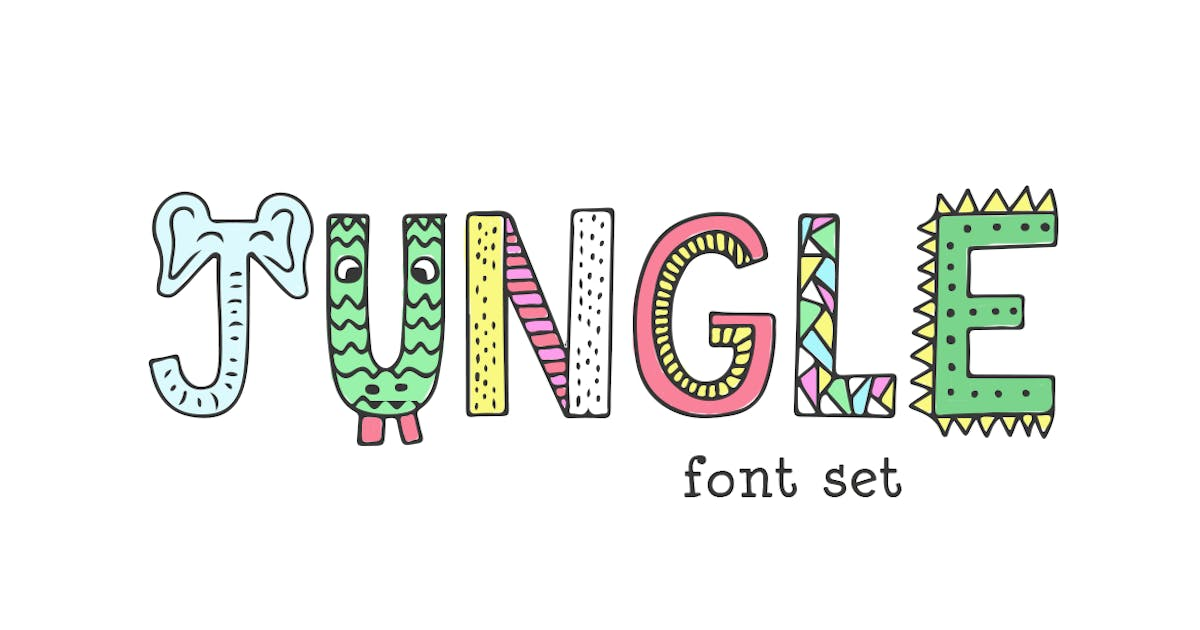 Jungle Font by maroonbaboon