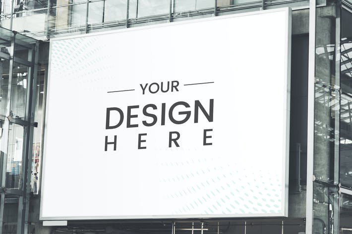 Thumbnail for Large-scale rectangular billboard mockup
