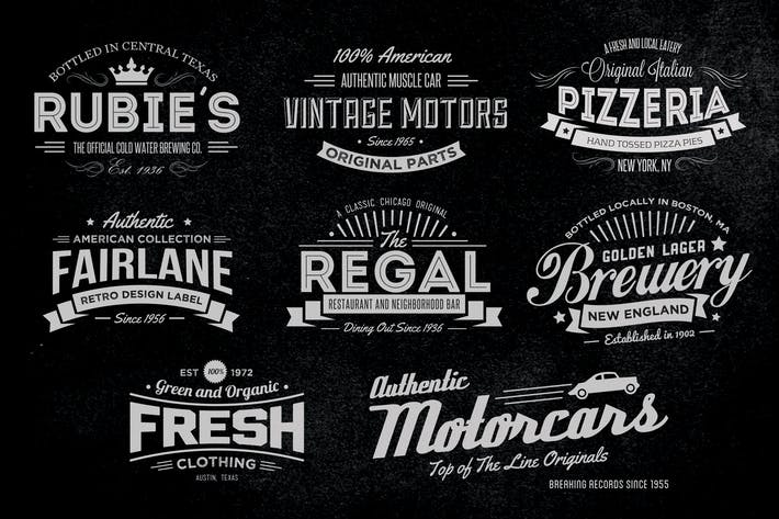 Thumbnail for Vintage Labels and Logos Collection 1