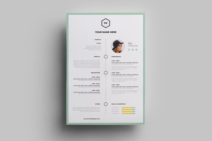 Thumbnail for Resume Design Templates.08