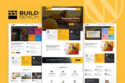 Construction Building WordPress Theme - Buildbench