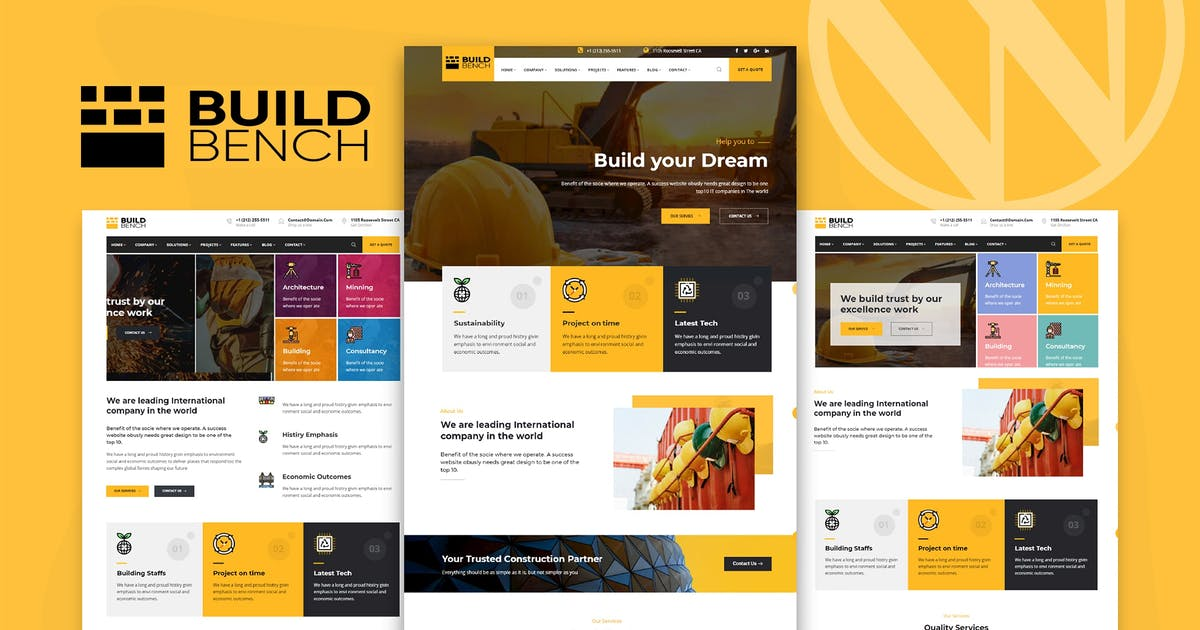 Download Construction Building WordPress Theme - Buildbench by trippleS