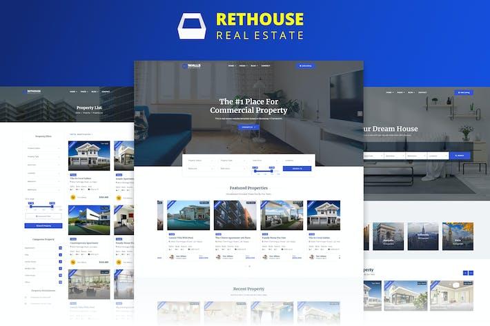 Thumbnail for Rethouse - Plantilla HTML de bienes raíces