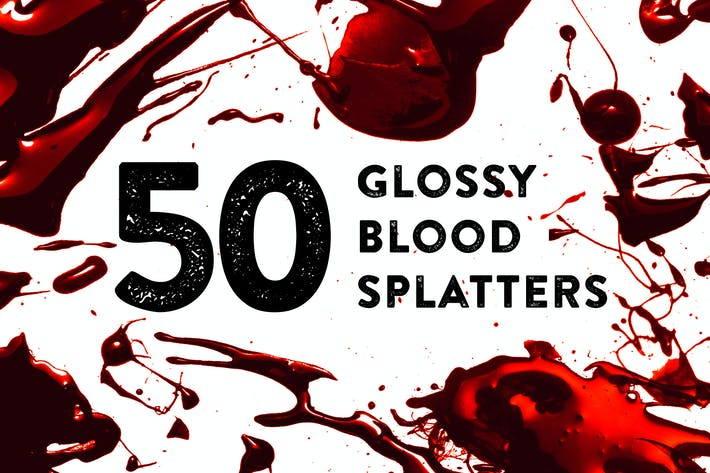 Thumbnail for 50 Glossy Blood Splatters