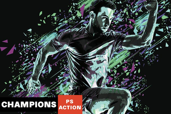 Thumbnail for Champions Photoshop Action