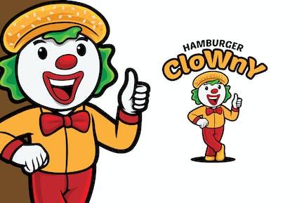 Hamburger Clown Logo Mascot Template