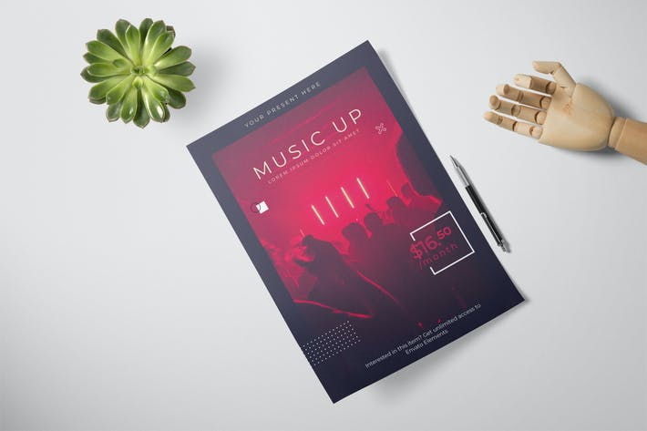 Thumbnail for Modern Music Flyer Layout