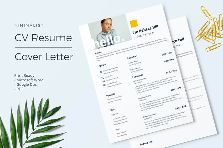 Thumbnail for Rebeca- CV Resume Template