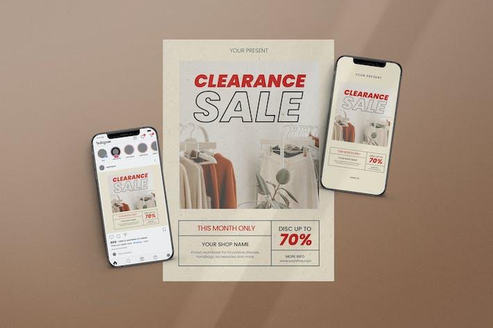 Clearance Sale Flyer Set