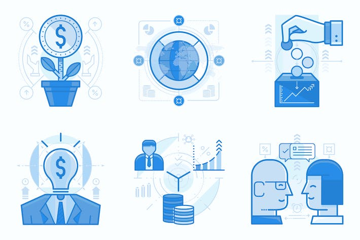 Thumbnail for Finance and Business UI UX Illustrations