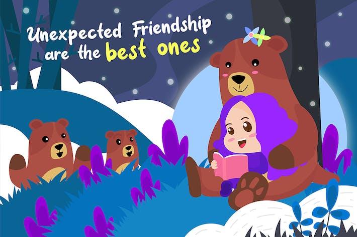 Thumbnail for Girl has Friendship - Vector Illustration