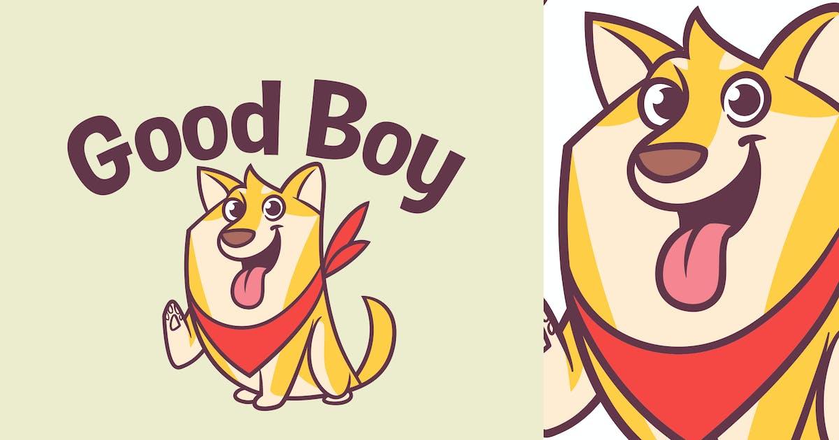 Download Cartoon Cute Shiba Inu Dog Logo by Suhandi