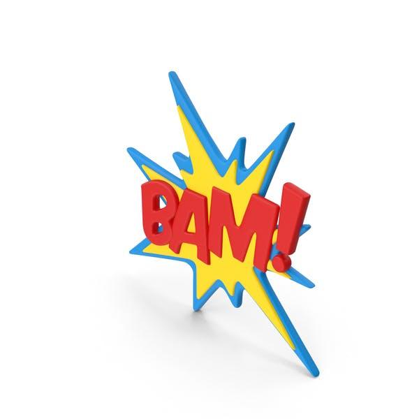 Superhero Comic Text Bubble BAM!