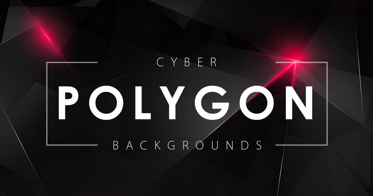 Cyber Polygon Backgrounds by M-e-f
