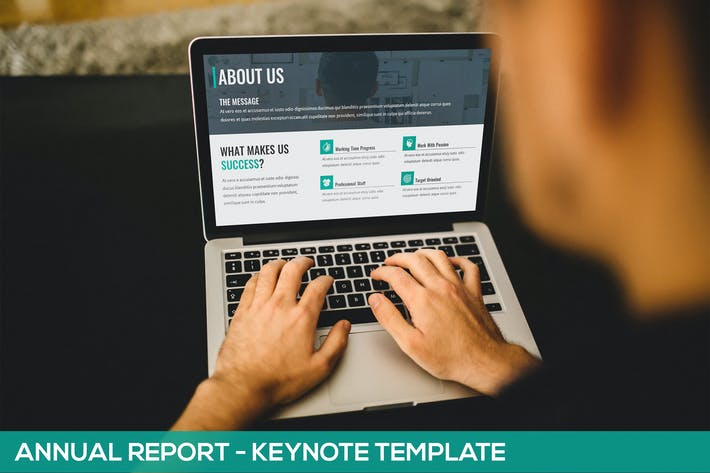 Thumbnail for Annual Report - Keynote Template