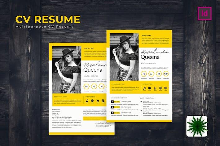 Thumbnail for Content Creator CV Resume