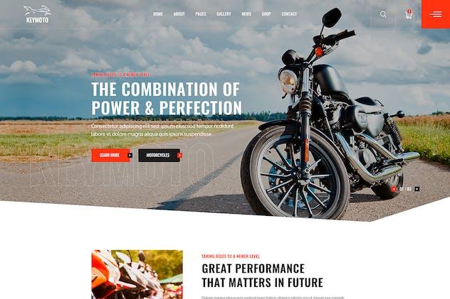 Keymoto - Motorcycle PSD Template