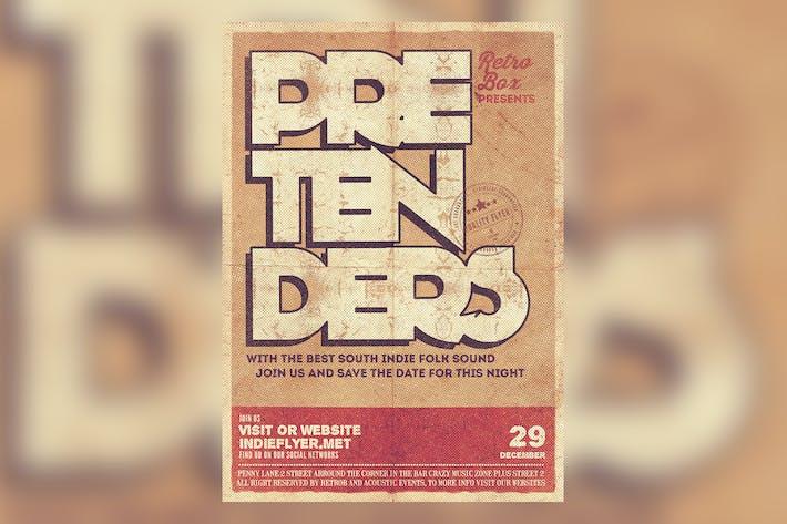 Thumbnail for Pretenders Flyer Poster