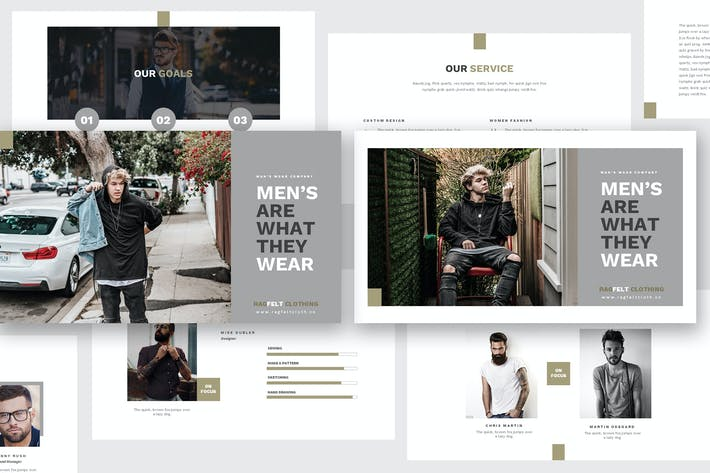 Thumbnail for Man Fashion Powerpoint Template