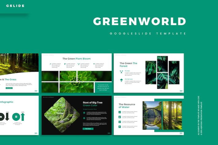 Thumbnail for Green World - Google Slides Template