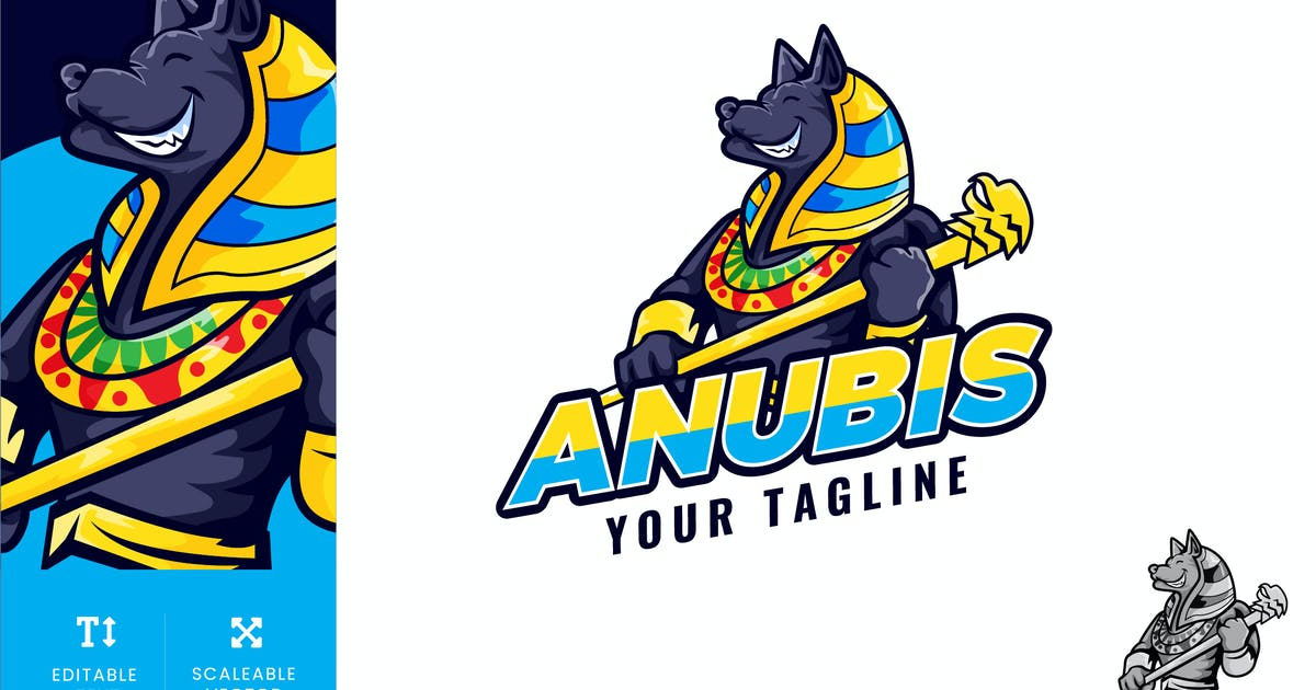Download Ancient Anubis Logo Illustration Vector by naulicrea