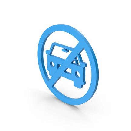 Symbol No Car Blue