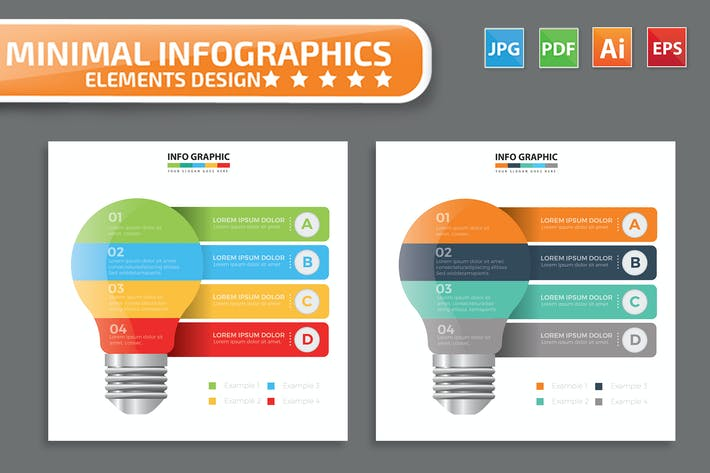 Thumbnail for Lightbulb infographic Design