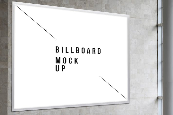 Thumbnail for Square Billboard Mock Up