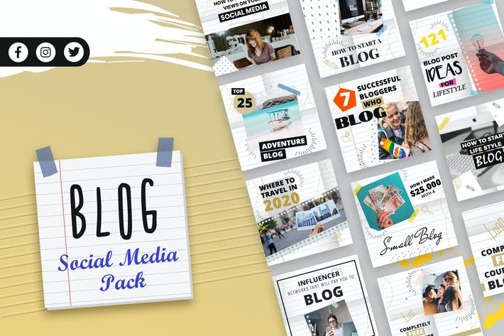Thumbnail for Blogging Social Media Template