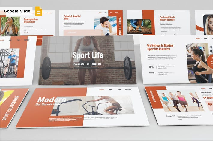 Thumbnail for SPORT LIFE - Google Slide V586