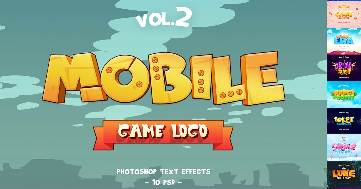 Download Mobile Game Text Effects vol.2 by Sko4