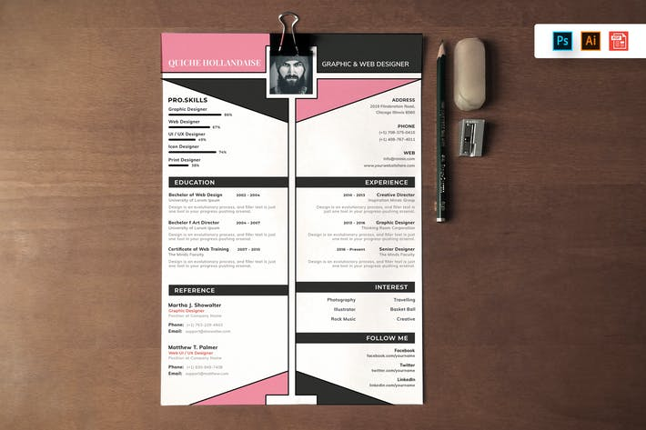 Thumbnail for Resume CV Template-82