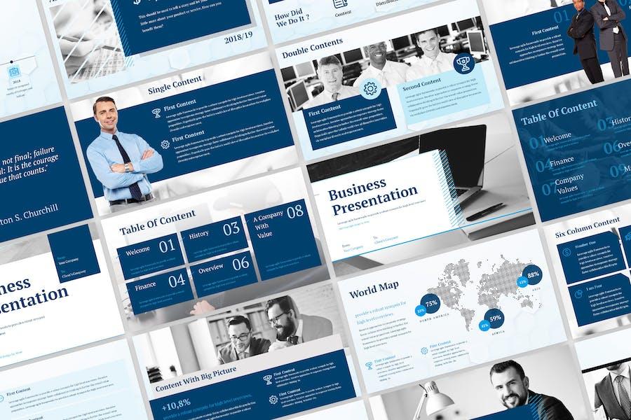 Blue Business Presentation